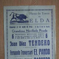 Cartazes Touros: CARTEL DE TOROS DE ELDA.. Lote 13085055