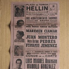 Carteles Toros: CARTEL DE TOROS DE HELLÍN.. Lote 23033861