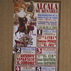 Carteles Toros: CARTEL DE TOROS DE ALCALÁ DE HENARES.. Lote 13225261
