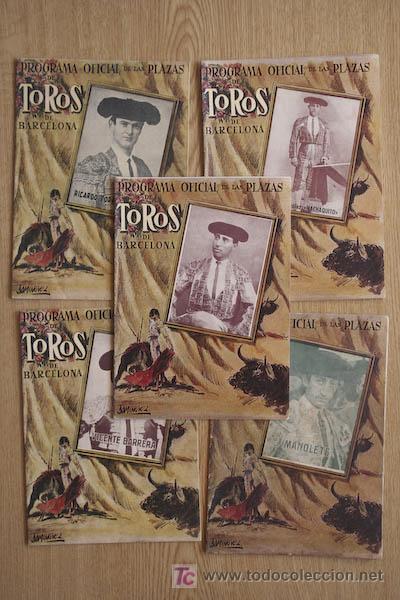 PROGRAMA OFICIAL DE LAS PLAZAS DE TOROS DE BARCELONA. LOTE DE 192 PROGRAMAS. (Coleccionismo - Carteles Gran Formato - Carteles Toros)