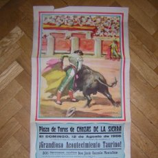 Carteles Toros: PLAZA DE TOROS DE CHOZAS DE LA SIERRA 12 DE AGOSTO DE 1956 GRANDE . Lote 26855050