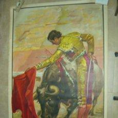 Carteles Toros: CARTEL GRANDE DE TOROS - SIN IMPRIMIR - LITOGRAFIA - ILUSTRADOR: CROS ESTREMS - AÑO 1967. Lote 54942150