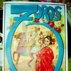 Carteles Toros: CARTEL GRANDE DE TOROS LITOGRAFICO DE RUANO LLOPIS, BARCELONA, VALENCIA, SEVILLA, MADRID Y GRANADA. Lote 137430140