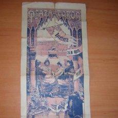 Carteles Toros: PLAZA DE TOROS DE BOCAIRENTE 24 DE AGOSTO DE 1919 GANADERIA DE D.RAMON FLORES GARCIA. Lote 27451296