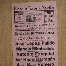 Carteles Toros: CARTEL DE TOROS DE SEVILLA. . Lote 14754383