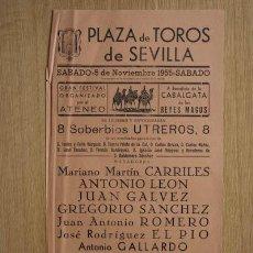 Carteles Toros: CARTEL DE TOROS DE SEVILLA. . Lote 14754463