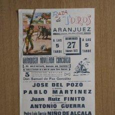 Carteles Toros: CARTEL DE TOROS DE ARANJUEZ.. Lote 24772121