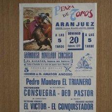 Carteles Toros: CARTEL DE TOROS DE ARANJUEZ.. Lote 24772122