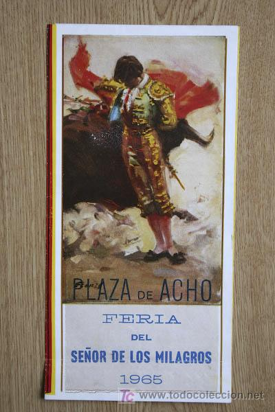 PROGRAMA DE TOROS DE ACHO. LIMA. PERÚ. (Coleccionismo - Carteles Gran Formato - Carteles Toros)
