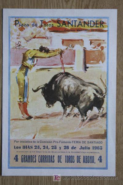 PROGRAMA DE TOROS DE SANTANDER. (Coleccionismo - Carteles Gran Formato - Carteles Toros)