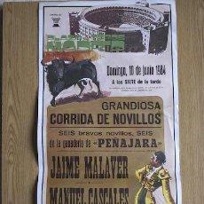 Carteles Toros: CARTEL DE TOROS DE MADRID. 1984.. Lote 14939420