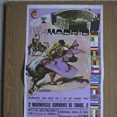 Carteles Toros: CARTEL DE TOROS DE MADRID. 1982.. Lote 14939770