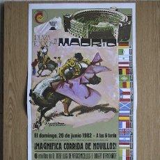 Carteles Toros: CARTEL DE TOROS DE MADRID. 1982.. Lote 14939796