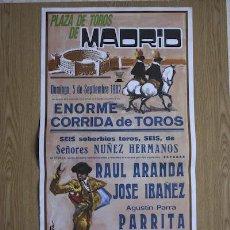 Carteles Toros: CARTEL DE TOROS DE MADRID. 1982.. Lote 14939906