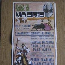 Carteles Toros: CARTEL DE TOROS DE MADRID. 1982.. Lote 14939946