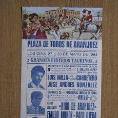 Carteles Toros: CARTEL DE TOROS DE ARANJUEZ.. Lote 24772124