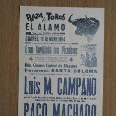 Carteles Toros: CARTEL DE TOROS DE EL ÁLAMO.. Lote 14946592
