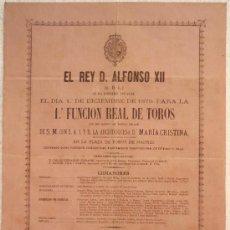 Carteles Toros: CARTEL TOROS MADRID , 1879 , ANTIGUO , ORIGINAL , MIDE 34 X 47 CMS.. Lote 22703959