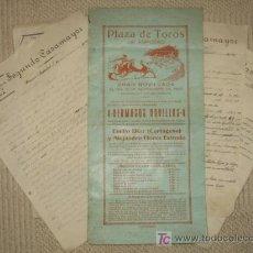 Carteles Toros: CARTEL PLAZA DE TOROS DE AMPUERO, CANTABRIA, 1927, Y 5 CARTAS SOBRE REPARACIONES EN DICHA PLAZA. Lote 24265173
