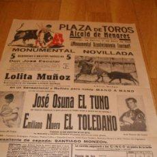 Carteles Toros: CARTEL PLAZA DE TOROS DE ALCALA DE HENARES. NOVILLADA, 1965. 31X43.. Lote 15122066