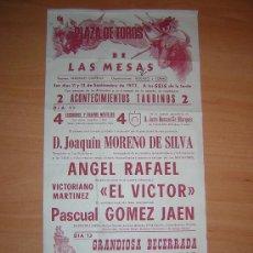 Carteles Toros: PLAZA DE TOROS DE LAS MESAS 1977. Lote 26855054
