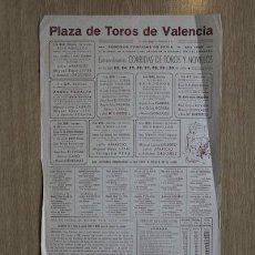 Carteles Toros: CARTEL DE TOROS DE VALENCIA. 1949.. Lote 15354641