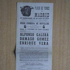Carteles Toros: CARTEL DE TOROS DE MADRID. 1951.. Lote 15557934