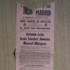 Carteles Toros: CARTEL DE TOROS DE MADRID. 1961.. Lote 15750070