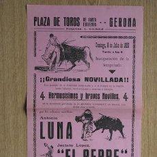 Carteles Toros: CARTEL DE TOROS DE GERONA. 1958.. Lote 15820286