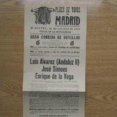 Carteles Toros: CARTEL DE TOROS DE MADRID. 1961.. Lote 15933262