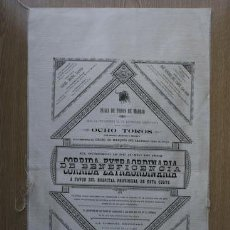 Carteles Toros: CARTEL DE TOROS DE MADRID. 12 DE JUNIO DE 1892. BENEFICENCIA. LAGARTIJO, CARA-ANCHA, ESPARTERO, ETC.. Lote 24072728