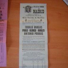 Carteles Toros: PLAZA DE TOROS DE MADRID 29 DE JUNIO DE 1971. Lote 26804480