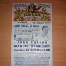 Carteles Toros: PLAZA DE TOROS DE VISTA ALEGRE. Lote 26658812