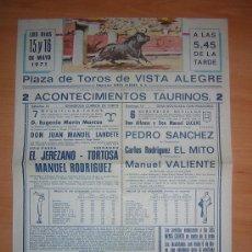 Carteles Toros: PLAZA DE TOROS DE VISTA ALEGRE 1971. Lote 26855056
