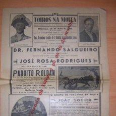 Carteles Toros: NA MOITA PORTUGAL 1946. Lote 206847382