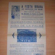 Carteles Toros: TOROS EN PORTUGAL 1946 COCHITA CINTRON. Lote 26777227
