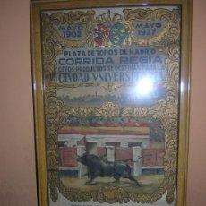 Carteles Toros: MADRID CORRIDA REGIA 1927. Lote 27249924