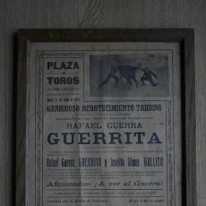 Carteles Toros: CARTEL DE TOROS DE VALENCIA. 1914.. Lote 17318017
