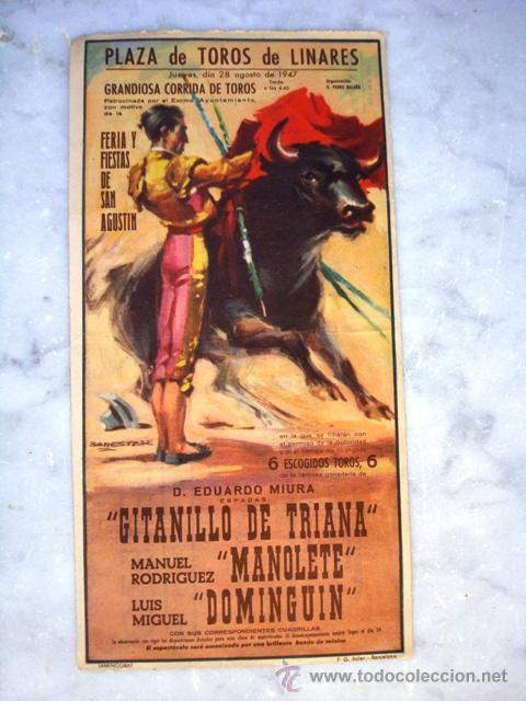 PEQUEÑO CARTEL DE MANOLETE CON PARTICIPACION DE LOTERÍA NAVIDAD,BAR PACO CEREZO 1959 (Coleccionismo - Carteles Gran Formato - Carteles Toros)