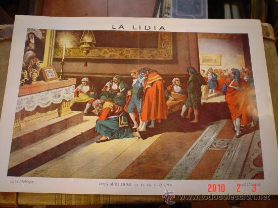 LITOGRAFÍA LA LIDIA, DE J. PALACIOS (Coleccionismo - Carteles Gran Formato - Carteles Toros)