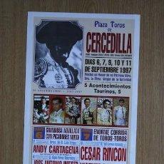 Carteles Toros: CARTEL DE TOROS DE CERCEDILLA. 1997. Lote 25942474