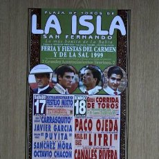 Carteles Toros: CARTEL DE TOROS DE SAN FERNANDO.. Lote 18028644