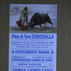 Carteles Toros: CARTEL DE TOROS DE CERCEDILLA.. Lote 18028742