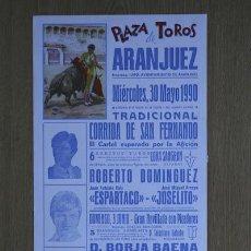 Carteles Toros: CARTEL DE TOROS DE ARANJUEZ. . Lote 25060126