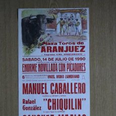 Carteles Toros: CARTEL DE TOROS DE ARANJUEZ.. Lote 23830572