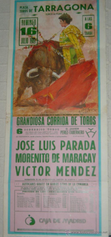 CARTEL PUBLICITARIO PLAZA DE TOROS DE TARRAGONA DEL AÑO 1989 (Coleccionismo - Carteles Gran Formato - Carteles Toros)