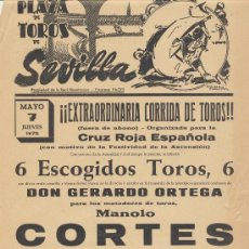 Carteles Toros: PLAZA DE TOROS DE SEVILLA. CARTEL (45X21). CORRIDA 7 DE MAYO 1970.. Lote 19336994