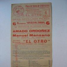 Plakate Stiere - CARTEL TOROS - CARTAGENA, MURCIA - SEPTIEMBRE DE 1965 - 19523400