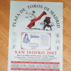 Carteles Toros: CARTEL EN TELA DE LA PLAZA DE TOROS DE MADRID SAN ISIDRO 2002. Lote 26777234