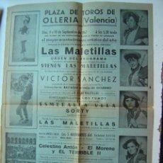 Carteles Toros: CARTEL TOROS - OLLERIA, VALENCIA - AÑO 1967. Lote 20093146